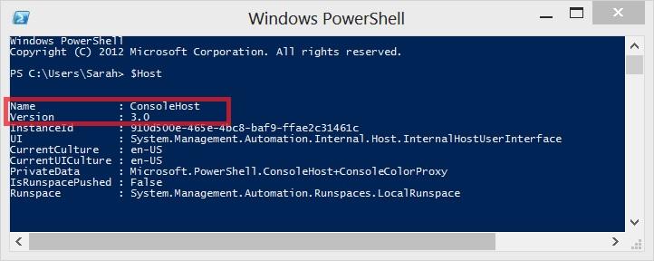PowerShell Host variable